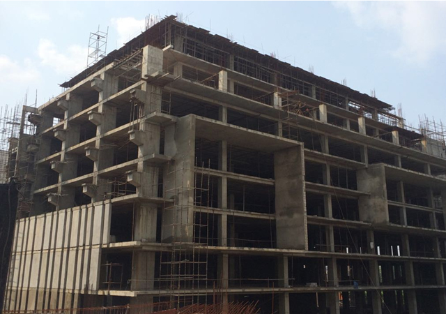 Vatika Mindscapes - Tower D 9th floor Pour-1 slab casting complete. Pour-2 slab shuttering is in progress. 9th to 10th floor Pour -1 vertical casting is in progress.
