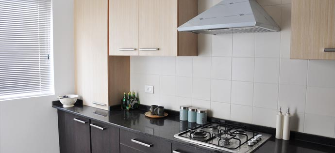 The Sovereign Apartments - Kitchen, sample apartment