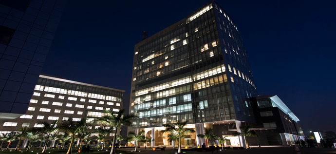 Vatika Business Park - Night View of Block Two and Three