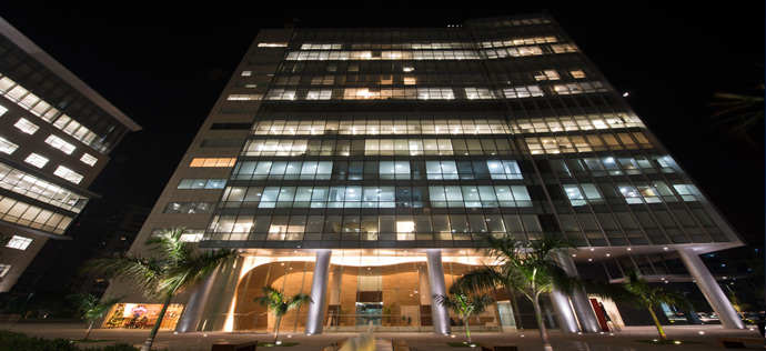 Vatika Business Park - Night View of Block Two