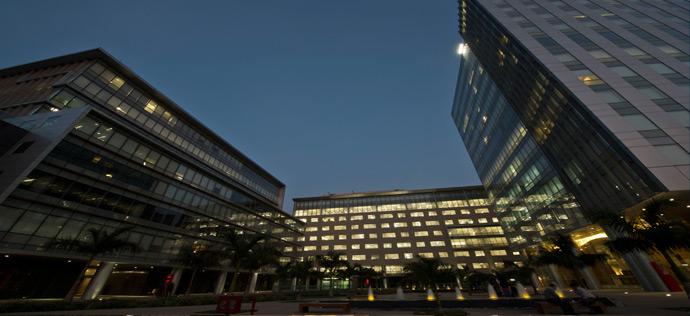 Vatika Business Park - Night View