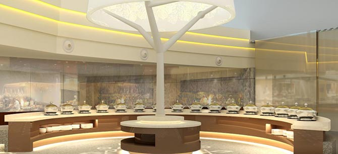 Airport Lounges - Buffet Counter