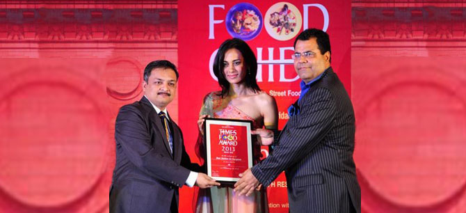 - Receiving Times Food Award 2013