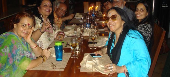 - Ila Arun with family at Coriander Leaf