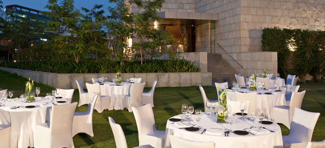 The Westin Gurgaon, New Delhi -  Westin Vatika Lawns attached to the Ballroom