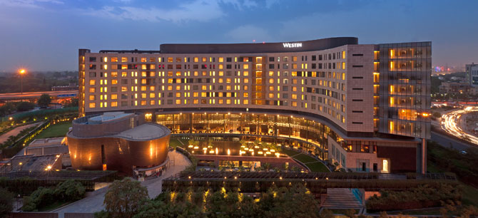 The Westin Gurgaon, New Delhi - Hotel Exterior at Night